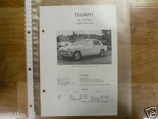 TR7-TRIUMPH TYPE 1300 EN 1300TC 1966-1969--TECHNICAL IN