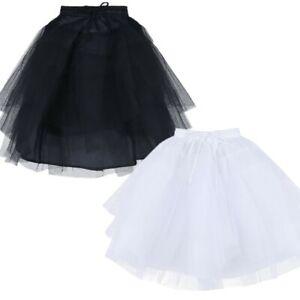 Kinder 3 Schicht Reifrock Mädchen Unterrock Tüll Krinoline Petticoat für Kleid
