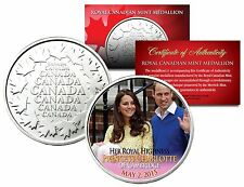 PRINCESS CHARLOTTE of CAMBRIDGE-WILLIAM AND KATE ROYAL CANADIAN MINT MEDALLION