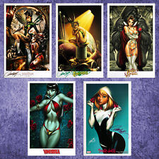 "PRINT SET: 5-PACK (11"" x 17"") BY J. SCOTT CAMPBELL - 3 PRINTS SIGNED !!!"