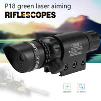 Red/Green Laser Sight Dot Scope for Hunting Airsoft Adjustable + Battery Charger