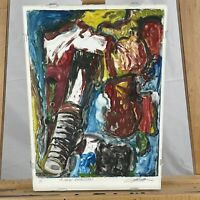"Vintage Painterly ""A New Direction"" Signed Original Monotype"