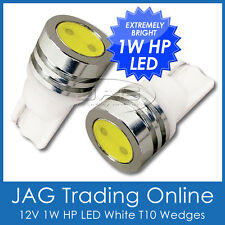PAIR 12V 1W HP SMD LED T10 WEDGE WHITE GLOBES - Car/Truck/RV Interior Light Bulb