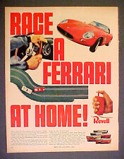 1966 Revell Ferrari Slot Car Race Set Kits 8 x 11 Toy Memorabilia Promo Art AD