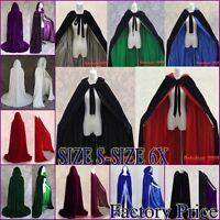 NEW Christmas Cheap Velvet Hooded Cloak/Cape/Coat Wedding Shawl Plus size S-6X