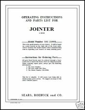 "Craftsman 6"" Jointer Operators Manual No.103.23900"