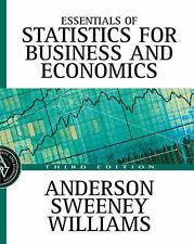 Essentials of Statistics for Business and Economics, Williams, Thomas Arthur, An