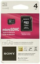 Sony 4GB MicroSD Micro SDHC Class 4 Memory Flash SD Card with SD Adapter