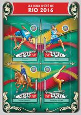 Niger 2016 MNH Olympic Summer Games Rio 4v M/S Tennis Gymnastics Olympics Stamps