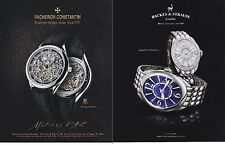 VACHERON CONSTANTIN / BACKES & STRAUSS 2015 magazine ad watch print clipping