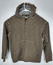 Vtg Patagonia Marsupial Striped Hoodie Wool Nylon Sweater Jacket Size Large L