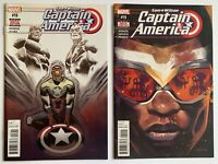Captain America Sam Wilson 18 19 Lot Marvel Comics 2016 1st App Rayshaun Lucas