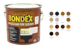 Bondex Holzlasur für Aussen Farbwahl 2,5L BEULE Holzschutz Lasur