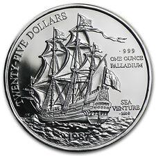 1987 Bermuda 1 oz Proof Palladium Sea Venture Coin - SKU #14264