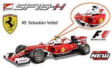 Ferrari SF16-H F1 #5 Sebastien Vettel 2016 Avec Chauffeur 1:18 Bburago