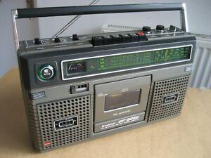 RESTORED VINTAGE SHARP RADIO CASSETTE SHARP GF-8080 RADIO CASSETTE VINTAGE RADIO