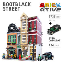 Lego Custom Modular Building * BOOTBLACK STREET + VEHICLE * INSTRUCTIONS ONLY!