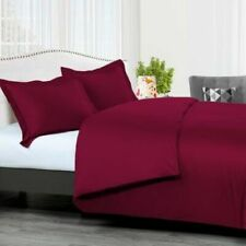 300 Tc Burgundy Sateen Solid 8 Pc Beds In A Bag
