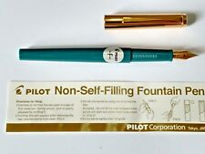 Pilot 'Tank' Non-Self-Filling Fountain Pen - FINE Nib-with eye dropper -Blue