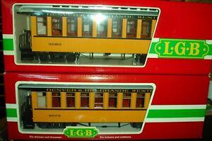 LGB DRGW 3 Car Passenger Set 2 Coach, 1 Combine w/Lights