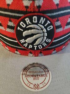 Toronto Raptors NBA Mitchell & Ness Mixtec Snapback RED & Gray MSRP $32 NWT