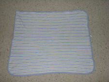 GERBER BABY BOY BLANKET THERMAL WAFFLE WEAVE BLUE WHITE LIME GREEN STRIPE