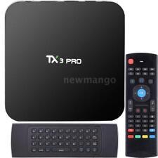 TX3 PRO Android 6.0 S905X Quad Core Smart TV Box 4K Stream Media Player+Keyboard