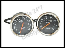 2X Smith Replica Speedometer Tachometer 150 MPH Black For BSA Norton Triumph