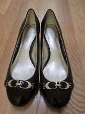 EUC Womens Coach Brown Leather Mid Heel Pump - size 8B