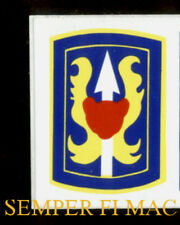 199TH INFANTRY BRIGADE VIETNAM US ARMY BUMPER STICKER ZAP DECAL Fort Benning WOW