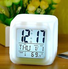Alarm Clock LED Temperature with seven color flashing