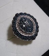 Blue & White Diamond Ring Sz.7 50 diamonds .45tcw MSRP$962