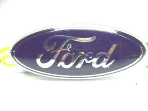 FORD OVAL EMBLEM BLUE W/CHROME OEM 5 1/2 INCHES LONG