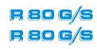 BMW R80G/S GS '86 2 adesivi-stickers-aufkleber-autocollant-decals