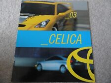 2003 Toyota Celica Sales Brochure