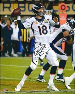 Peyton Manning Denver Broncos Signed 16x20 Super Bowl 50 Vertical Photo