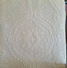 NEW NICOLE MILLER F/ QUEEN 3PC QUILT SHABBY GRAY TRAPUNTO FLORAL MEDALLION