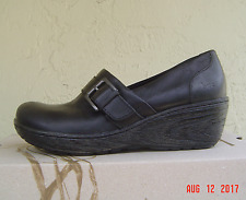 NEW  BOC by BORN BLACK LEATHER  WEDGE  LOAFERS SIZE 8.5 M $85