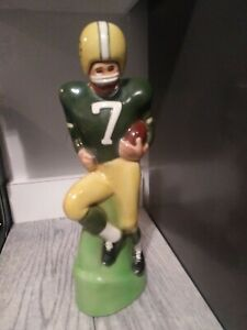 Vintage GREEN BAY PACKERS Decanter PAUL LUX 1972 Football Bottle Packer NFL RARE