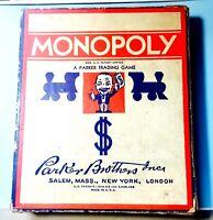 Vintage 1936 Parker Brothers Monopoly Game