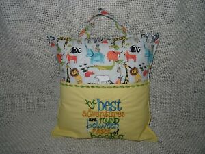 Jungle Animals Embroidered Reading/Book Cushion