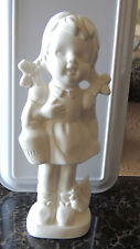"""Byron Bh1018 """"Girl With Chicken & Milk Jug 8.5""""H"""" Bisque Ready To Paint"""