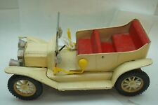 VINTAGE TIN FRICTION CAR JAPAN TIN LIZZY FORD MODEL A METAL 1950s LITHO TOY