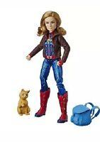 Marvel Movie Captain Super Hero Doll & Goose the Cat girl superhero Hasbro NEW