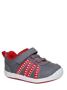 Garanimals Infants Athletic Boys Shoes Size 3 Dark Gray Red White NEW