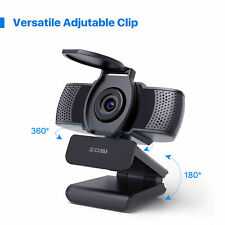 Zosi 1080P Web Camera Webcam with Microphone for Pc Desktop Laptop Video Hd Usb