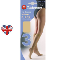 4 colours available Knee High 15 Denier 3 pair pack