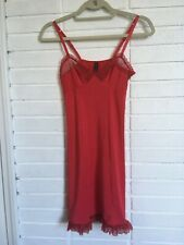 Victoria's Secret Sexy Little Think Red Nightie Nightgown  Lingerie Size M