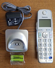 GENUINE PANASONIC KX-TGEA20 S EXPANSION CORDLESS HANDSET SILVER - EXCELLENT USED