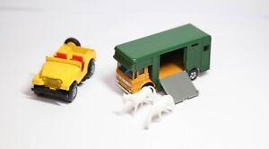 Matchbox Superfast No 17 AEC Ergomatic Horse Box & No 72 Jeep - Jobblot